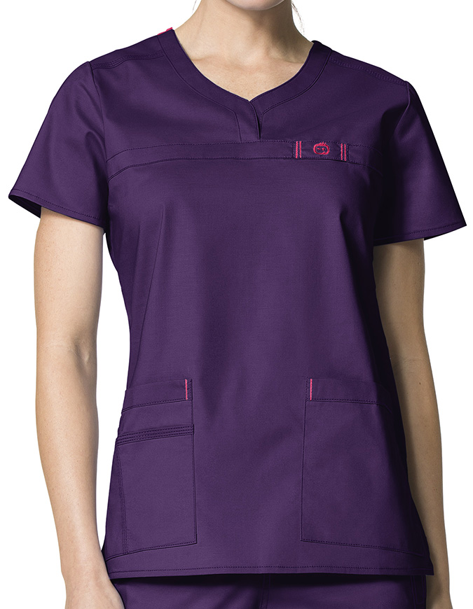 Wink Scrubs Lady Fit Curved Notch-Neck Nursing Scrub Top