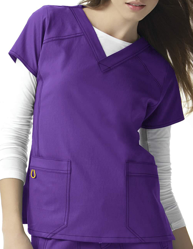 Wink Scrubs Women Sporty V-Neck Nursing Top