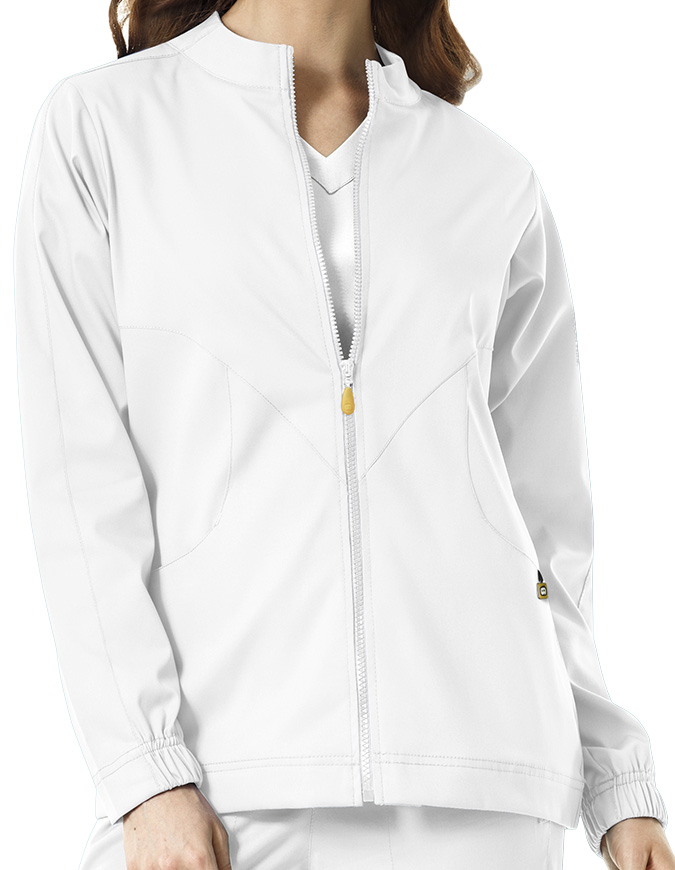 WonderWink Next Women's Boston Solid Warm-up Jacket