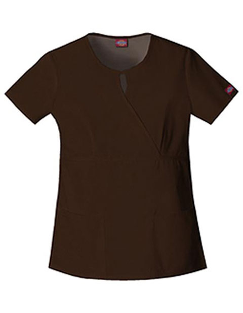 4d7eac65b6c Dickies 82708 EDS Women's Two Pocket Mock Wrap Scrub Top for $6.97 ...
