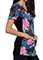 Cherokee Women's Wild About Flowers Print V-Neck Knit Panel Topp