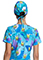 Tooniforms Unisex Keroppi Tropical Print Adjustable Tie-back Scrub Hat