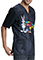 Cherokee Tooniforms Unisex Knight Out Print Top