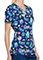 Cherokee Tooniforms Women's Love And Bananas Print V-Neck Topp
