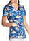 Dickies Women's Sun's Out Fun's Out Print V-Neck Top