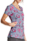 Dickies Women's Care Slow Much Prints V-Neck Top