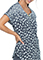 HeartSoul Women's Daisy Drizzle Print Round Neck Top