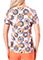 Healing Hands Women's Amanda V-Neck Print Medallion Garden Scrub Top