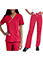Urbane Women's Double Pocket Crossover Low Rise Boot Cut Tall Scrub Set