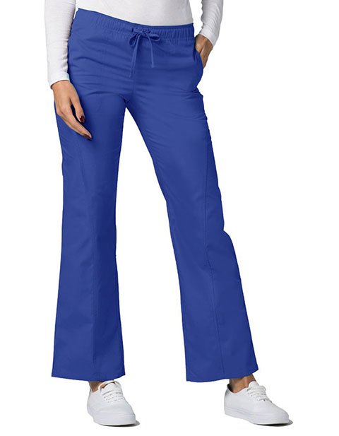 Adar Universal Womens Mid-Rise Front Stitched Straight Leg Scrub Pants