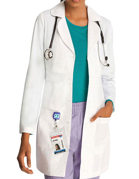 Adar Women's 33 Inches Adjustable Belt Lab Coat