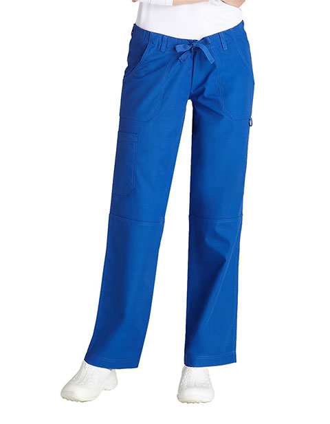 Adar Women's Multi Pocket Drawstring Tall Scrub Pants