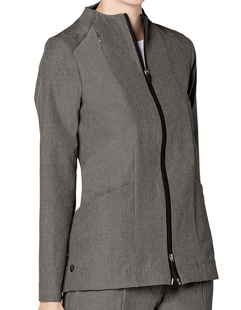Adar Pro Women's Polished Melange Tailored Funnel Neck Jacket
