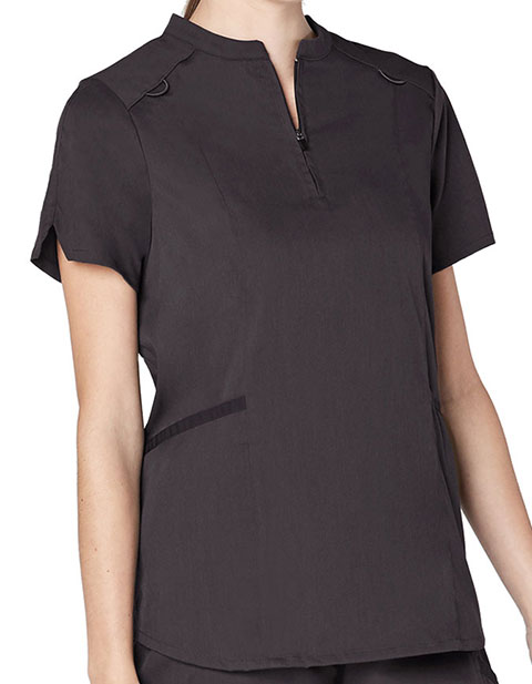 Adar Responsive Women's Active Stand Collar Top