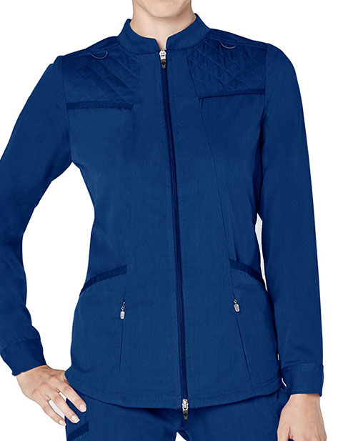 Adar Responsive Women's Active Zip Front Warm Up Jacket