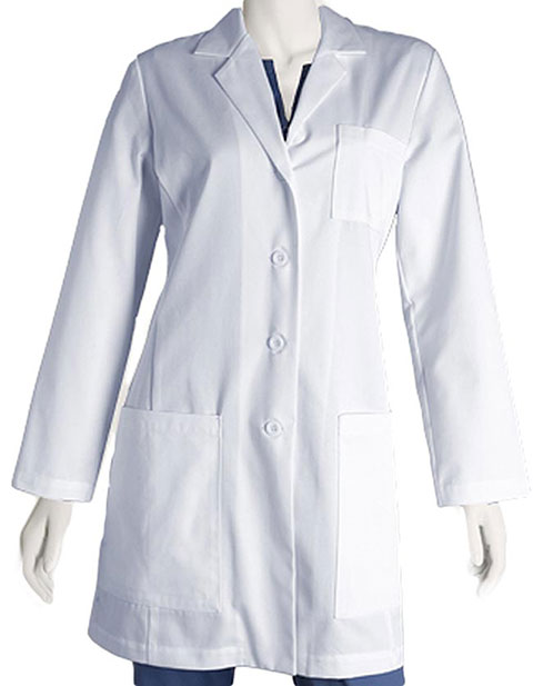 Barco Womens 34 inch Five Pocket Princess Lab Coat