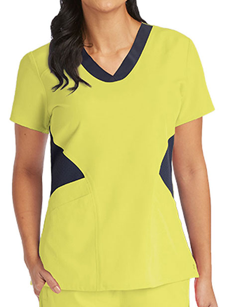 Barco One Womens Contrast V-Neck Fashion Top