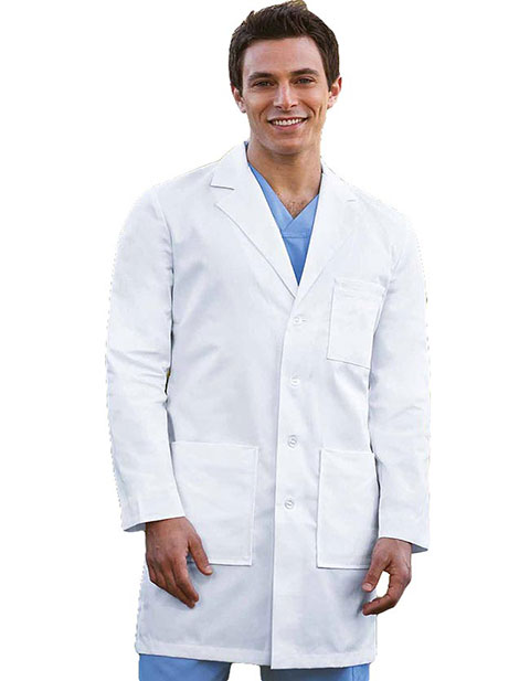 Barco Prima Mens 37 inch Four Pocket Twill Medical Lab Coat