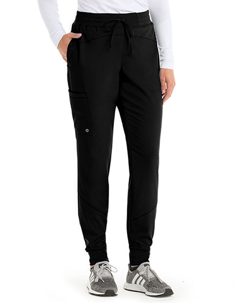 Barco One Women's Three Pocket Elastic waist Cargo Jogger Pant