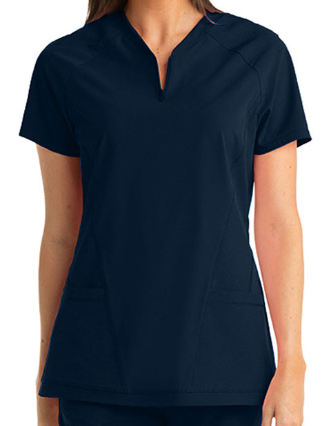 Barco One Women's 3-Pocket V-neck Scrub Top