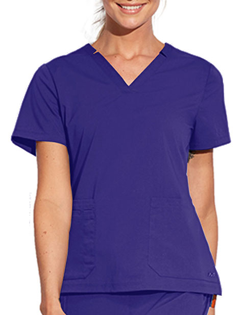 Barco Motion Women's Notched Lapover V-Neck Scrub Top