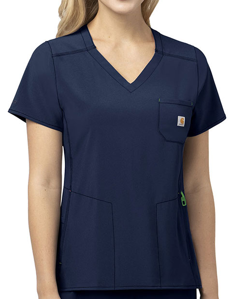 Carhartt Cross-flex Women's Diamond Neck Wrap Scrub Top