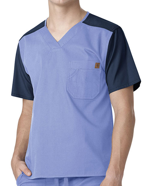 Carhartt Men's Color Block Nurse Scrub Utility Top