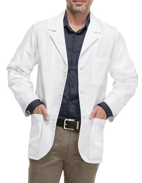 Med-Man Professional Whites with Certainty Men's 31 Inches Consultation Lab Coat