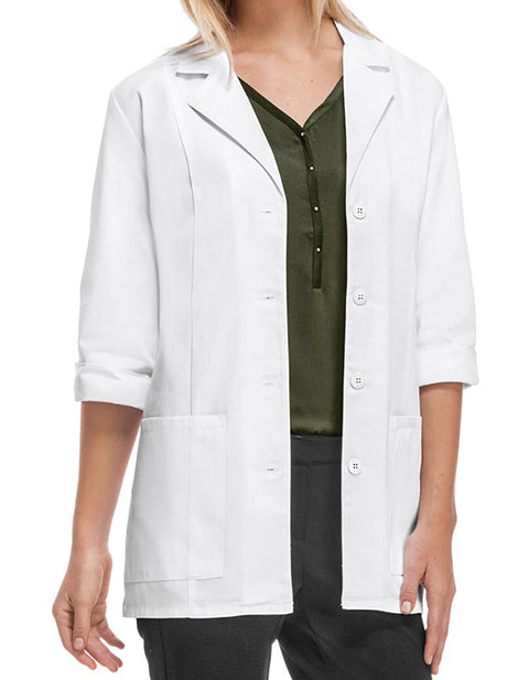 Cherokee's Professional Whites with Certainty Women's 30 Inches 3/4 Sleeve Lab Coat