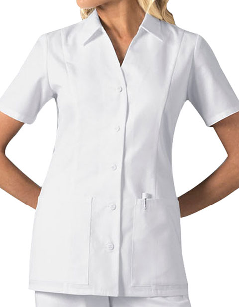 Cherokee Womens Two Pocket Standing Collar Scrub Top