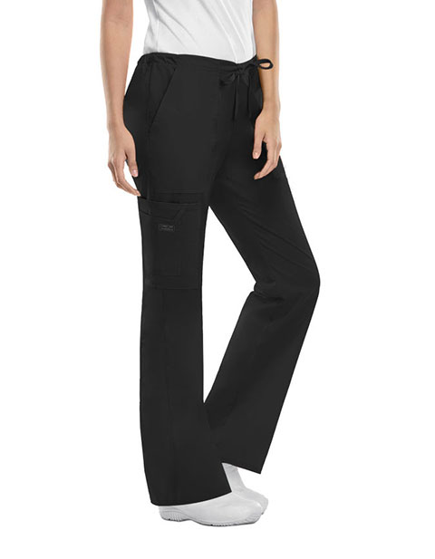 Cherokee Workwear Womens Petite Drawstring Pants