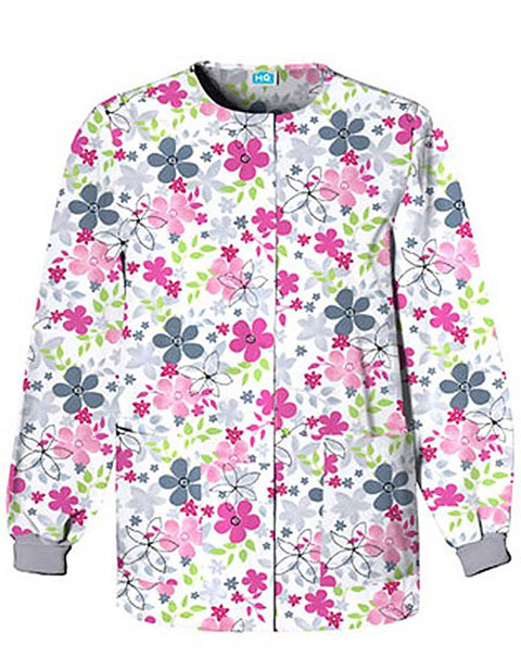 Cherokee HQ Women's Sunnyvale Snap Front Warm-Up Scrub Jacket