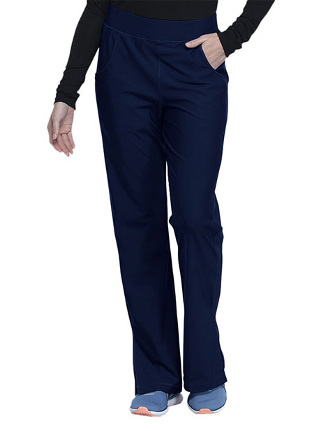 Cherokee Form Women's Mid Rise Moderate Flare Leg Pull-on Pant