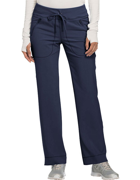 Cherokee Infinity Women's Mid Rise Tapered Leg Drawstring Tall Pant