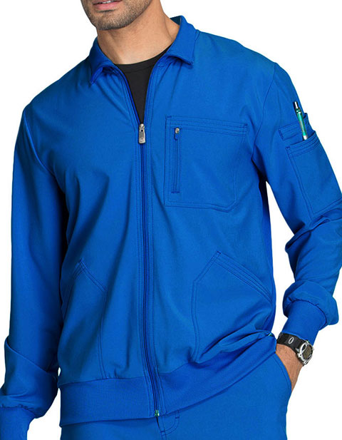 Cherokee Infinity Men's Zip Front Warm-Up Scrub Jacket