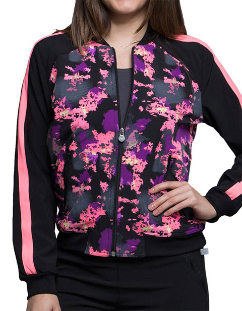 Cherokee Crazy For You Women's Don't Mesh Around Zip Front Jacket