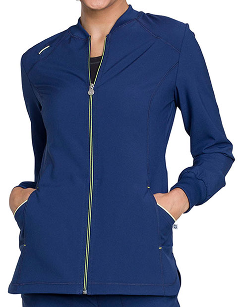 0e5670e6215 Cherokee CK380A Infinity Women's Zip Front Warm-up Jacket for $35.98 ...