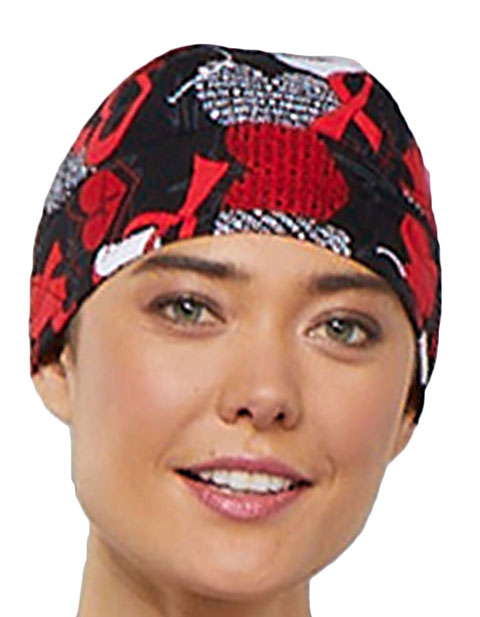 Cherokee Unisex Heart Smart Printed Scrub Hat