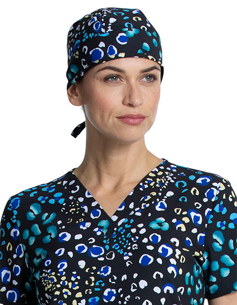 Cherokee Women's Adjustable Polka Dot Spot Print Scrub Hat