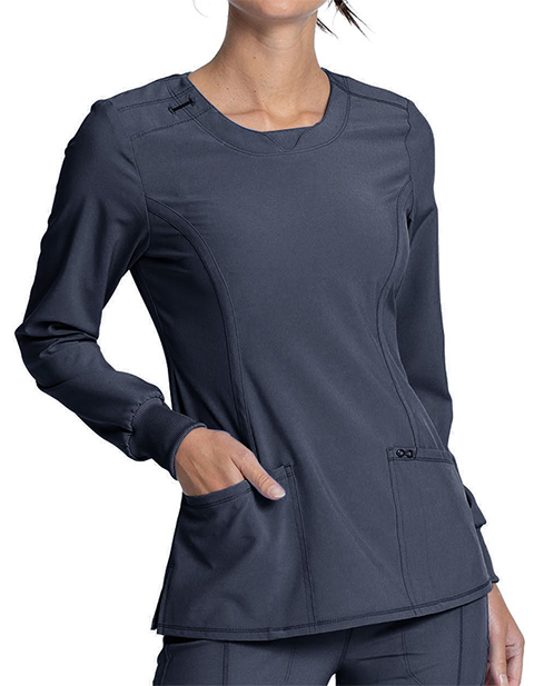 Cherokee Infinity Women's Contemporary fit, long sleeve V-neck top