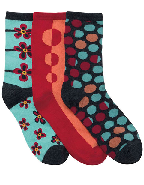 Cherokee Women 3 Packs Crew Socks