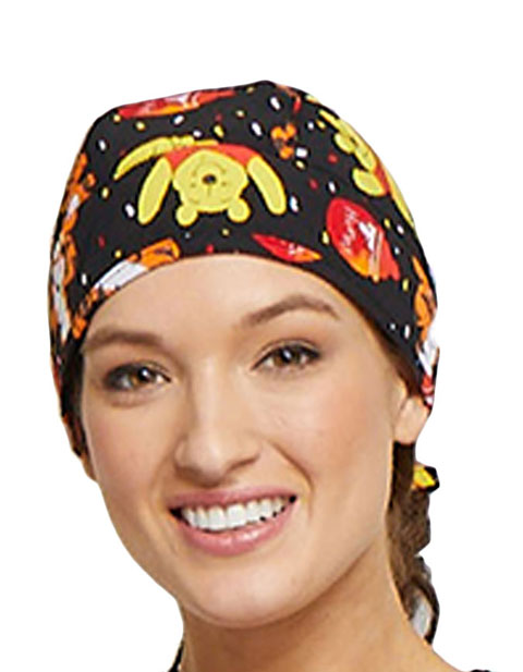 Tooniforms Unisex A Bear Likes Honey Printed Scrub Hat