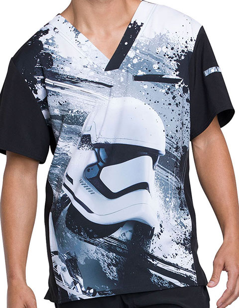 Tooniforms Men's First Order Printed V-Neck Top