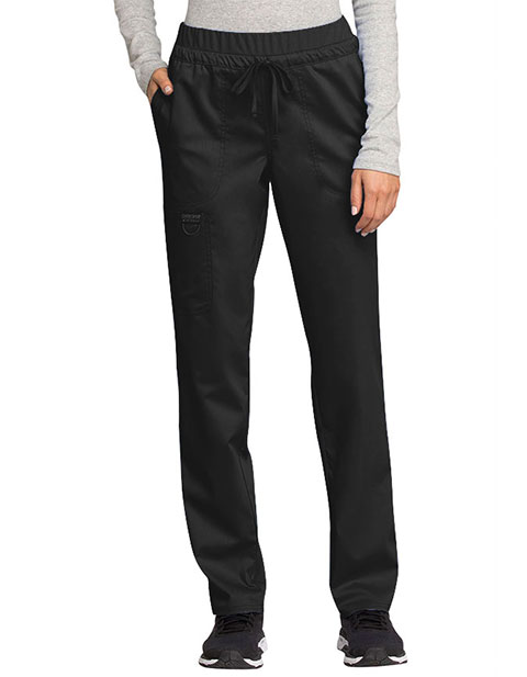Cherokee Workwear Revolution Women's Mid Rise Tapered Leg Drawstring Pant