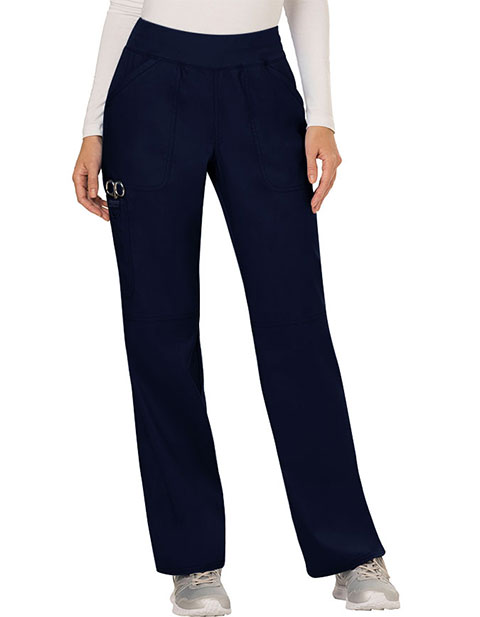 Cherokee Workwear Revolution Womens Mid Rise Straight Leg Pull-on Tall Pant