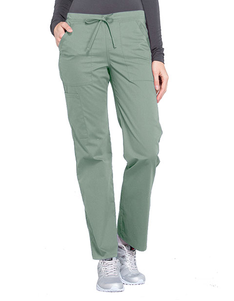 Cherokee Workwear Professionals Women's Drawstring Mid Rise Straight Leg Pant