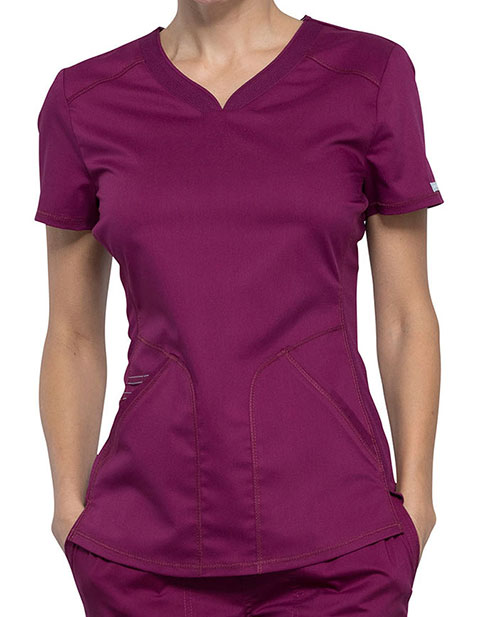 Cherokee Workwear Revolution Women's Soft Shaped V-Neck Top