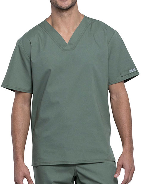 Cherokee Workwear Professionals Unisex Pocketless V-Neck Top