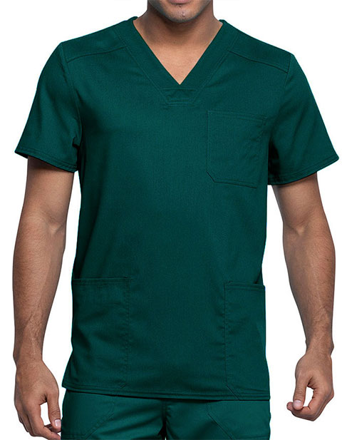 Cherokee Workwear Revolution Tech Men's 3 Pocket V-Neck Top