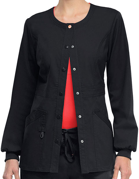Code Happy Bliss w/Certainty Plus Women's Antimicrobial Snap Front Warm up Jacket